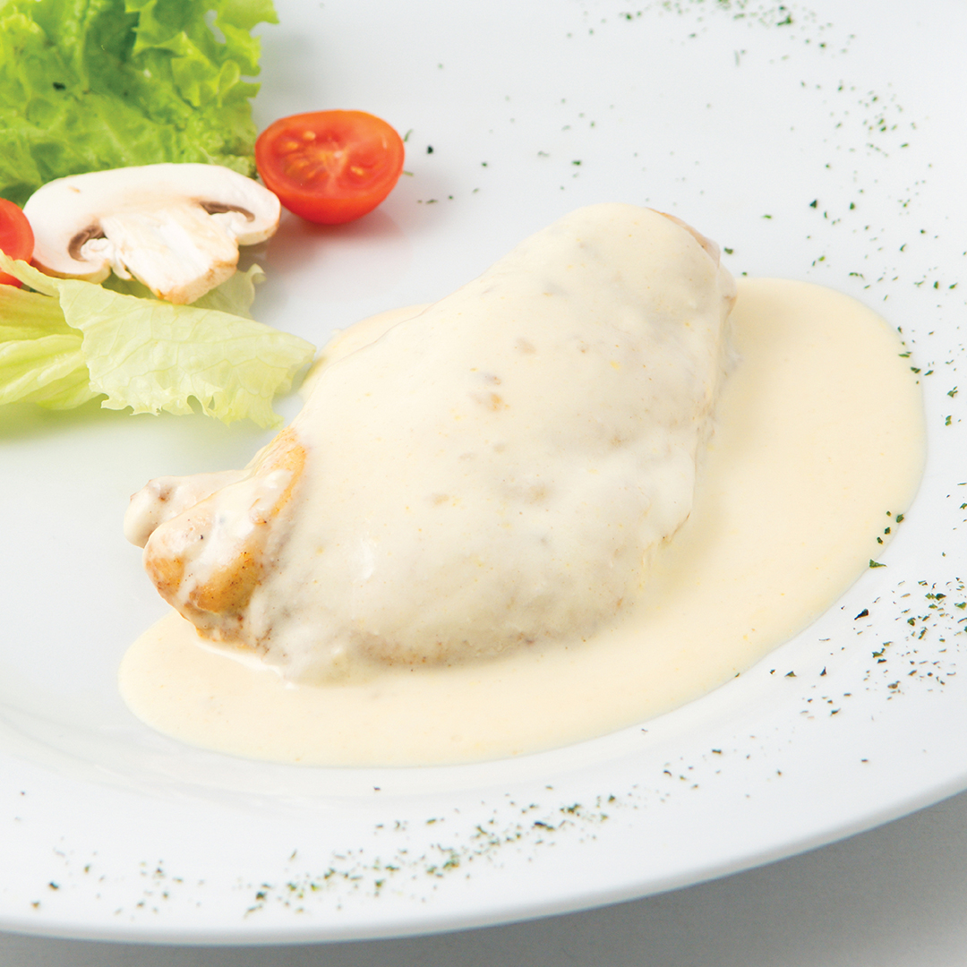 GRILLED CHICKEN WITH MUSTARD CREAM SAUCE