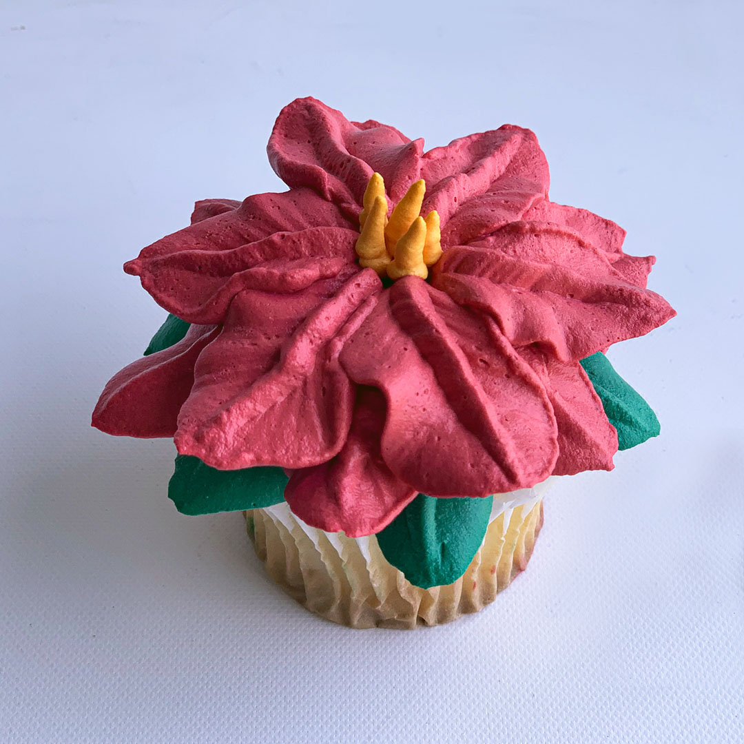 CHRISTMAS STAR FLOWER CUPCAKE