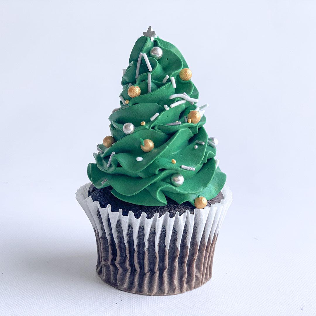 CHRISTMAS PINE TREE CUPCAKE